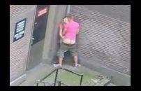 Flagra do casal de namorados trepando na rua